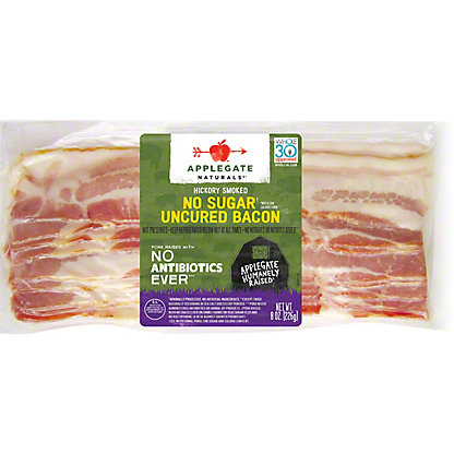 Applegate Natural Hickory Smoked Bacon No Sugar, 8 oz
